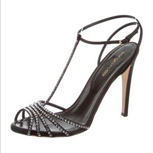 Beautiful Sergio Rossi crystal embellished sandals